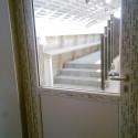 Døra inn til ridehallen